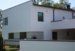 Tallinn, Soovõha tee 11 eramu fassaadi soojustamine, krohvimine ja looduskivi paigaldamine